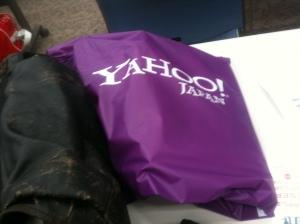 参加者全員へのプレゼント、ヤホーのビーチバッグ